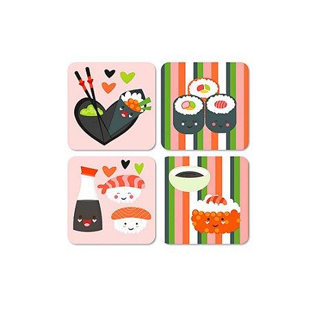 Porta Copos Magnéticos Sushi