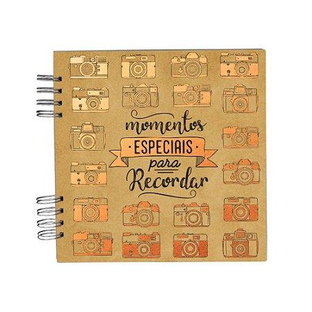 Álbum de Recordações Momentos Especiais Dourado Pequeno