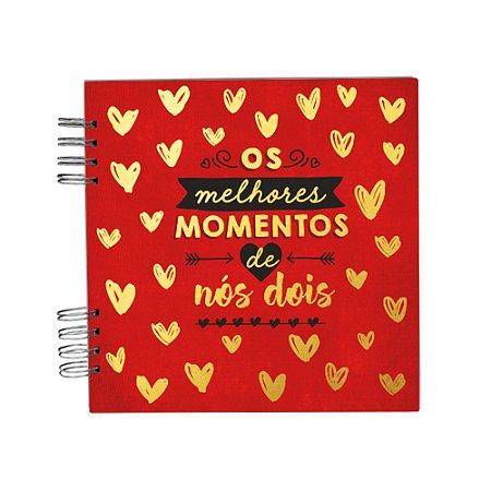 Álbum de Recordações Nós Dois Vermelho Pequeno
