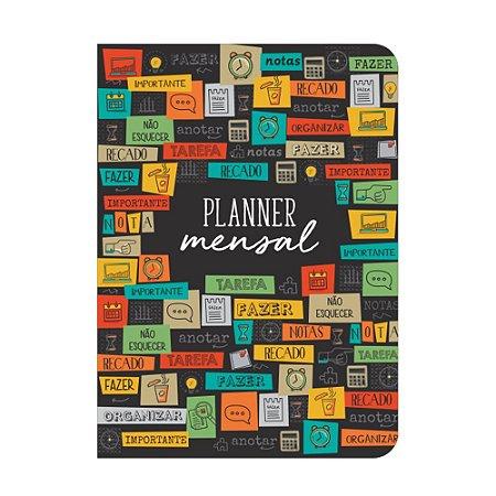 Planner Mensal Tarefas Preto