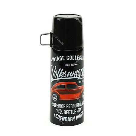 Garrafa Térmica Vintage Volkswagen Fusca Preta