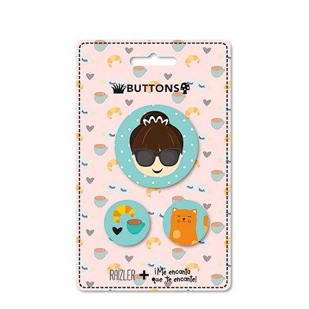 Kit Buttons Audrey