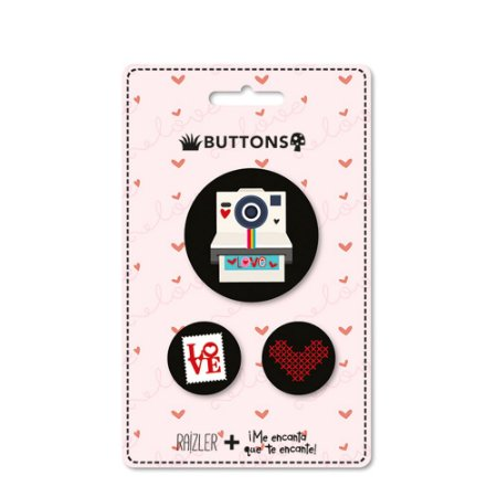 Kit Buttons Love