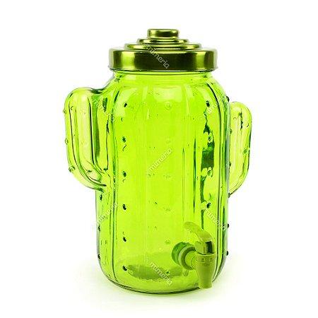 Dispenser de Vidro Cactos Verde