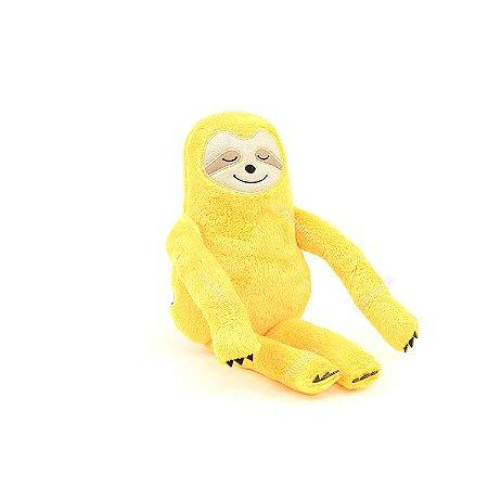 Bicho-Preguiça de Pelúcia Amarelo Pequeno
