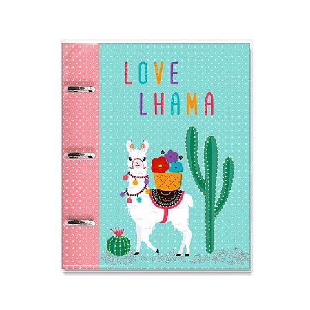 Caderno Argolado Fichário Lhama