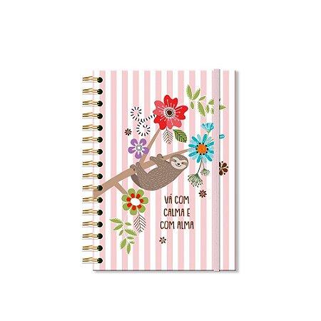 Caderno Clássico Decorado Bicho-Preguiça