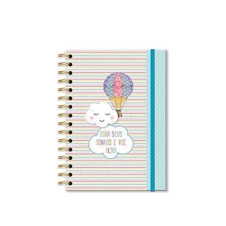 Caderno Clássico Decorado Nuvem e Balão