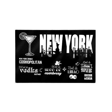 Tábua de Corte em Vidro Temperado Nova York Pequena
