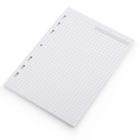 Refil Planner Fichário Grande Quadriculado A5