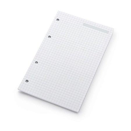 Refil Planner Fichário Médio Quadriculado Maxi
