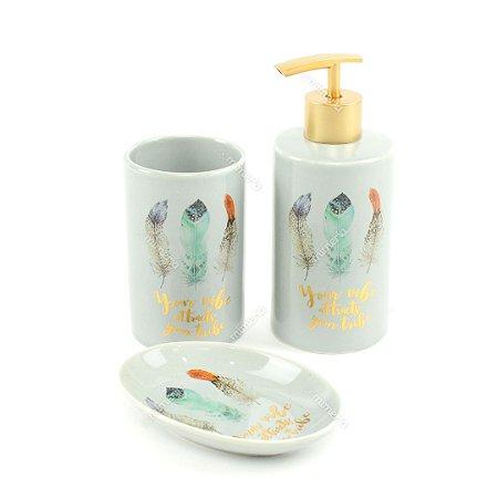 Kit de Banheiro em Cerâmica Your Vibe