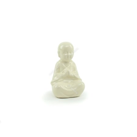 Buda Decorativo de Cerâmica Branco
