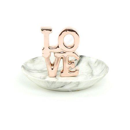Porta-Joias de Cerâmica Love Rose Gold