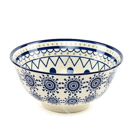 Bowl de Cerâmica Circular Azul Grande