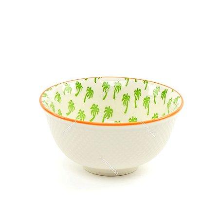 Bowl de Cerâmica Coqueiros Verde Pequeno