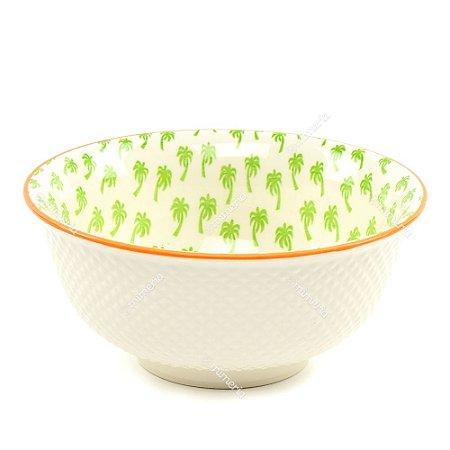 Bowl de Cerâmica Coqueiros Verde Grande