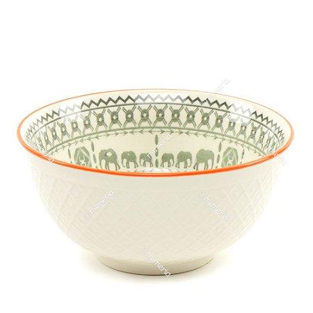 Bowl de Cerâmica Elefante Cinza Grande