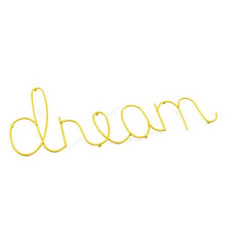 Letreiro Decorativo em Metal Dream Dourado