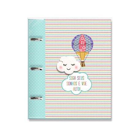 Caderno Argolado Fichário Nuvem e Balão
