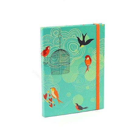 Caderno Médio Capa Dura com Elástico Liberdade