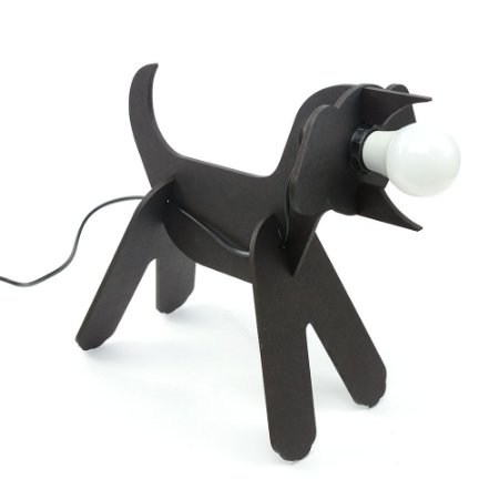 Luluminária Cachorro Preto