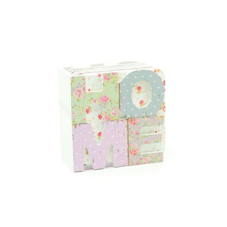 Conjunto 6 Porta Copos com Suporte Home Flores Delicadas