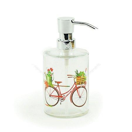 Porta Sabonete Liquído de Vidro Bicicleta Vermelha