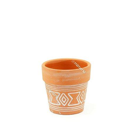 Mini Vaso em Cerâmica Rústico Aztec Barro