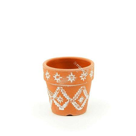 Mini Vaso em Cerâmica Rústico Inca Barro