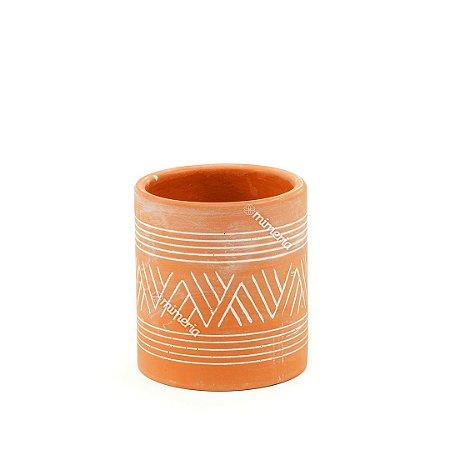 Vaso Pequeno em Cerâmica Rústico Aztec Barro