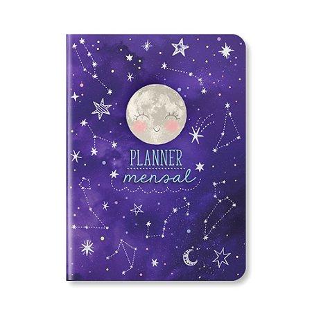Planner Mensal Constelações Roxo