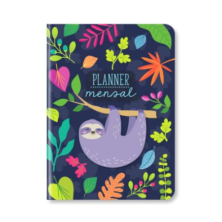 Planner Mensal Preguiça Azul Marinho