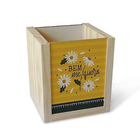 Porta Lápis Margaridas Amarelo