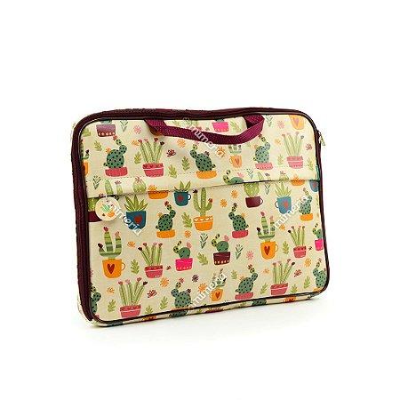 """Case Estampado para Notebook 15"""" Cactus"""