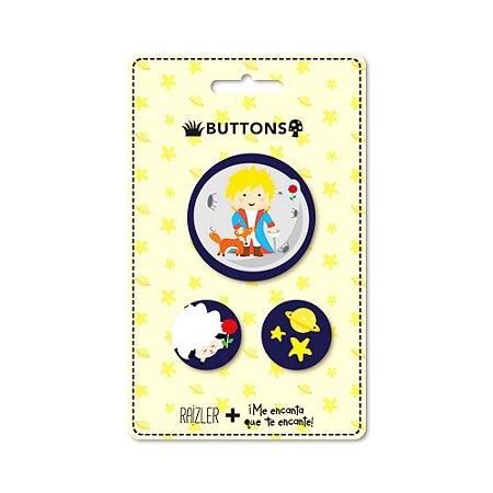 Kit 3 Buttons Príncipe