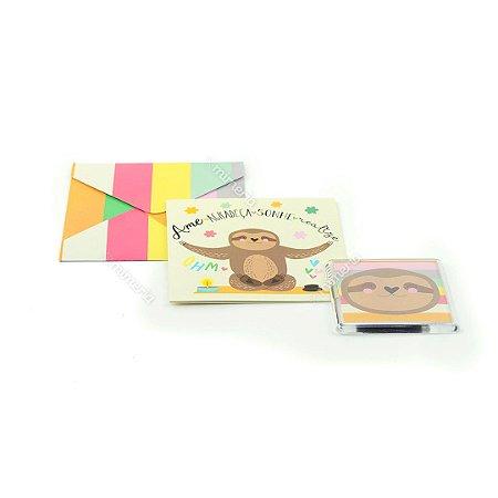 Kit Imã e Cartão Preguiça