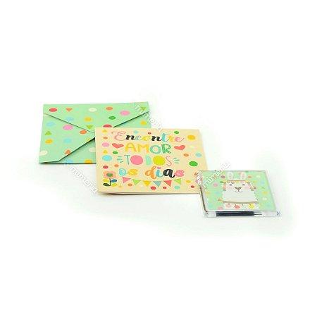 Kit Imã e Cartão Lhama