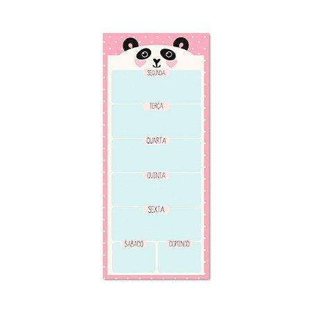 Bloco Planner Semanal Panda Magnético