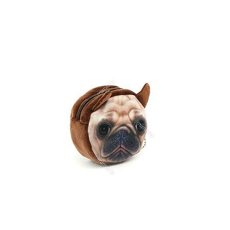Porta Moedas Estampado Cachorro Pug