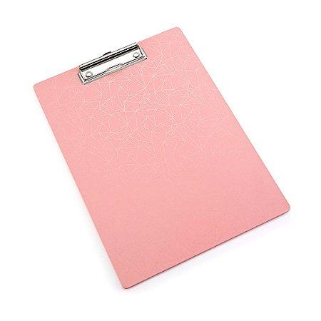 Prancheta Pink Stone Geométrico Média A4