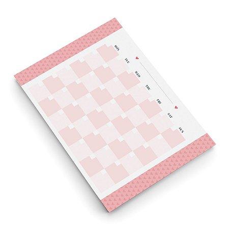 Bloco Planner de Mesa Mensal Pink Stone Médio