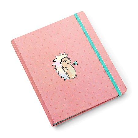 Caderno Porco Espinho Riccio Rosa Ultra