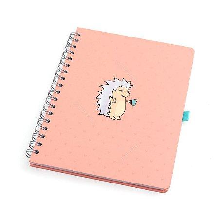 Caderno Wire-o Porco Espinho Riccio Rosa
