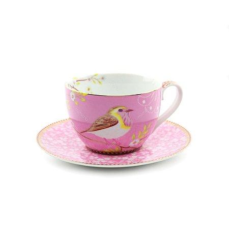 Xícara de Chá Early Bird Rosa Floral Pip Studio