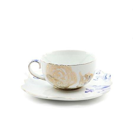 Xícara de Chá Royal White Pip Studio