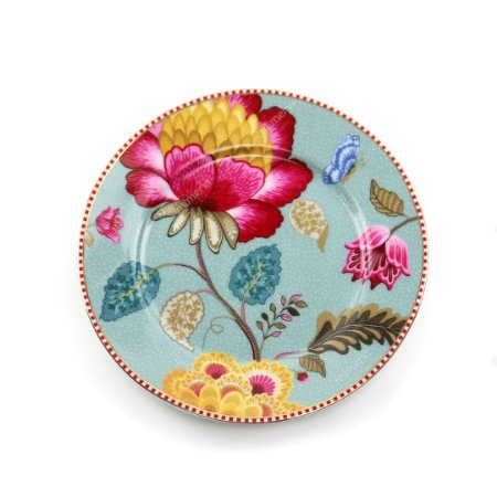 Prato de Pão Azul Floral Fantasy Pip Studio