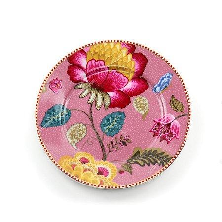 Prato de Pão Rosa Floral Fantasy Pip Studio