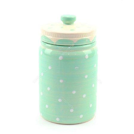 Pote em Porcelana Ornamental Verde