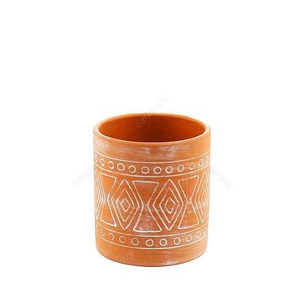 Vaso em Cerâmica Terracota Maya Barro